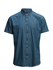 Collect Denim shirt ss r NOOS H - Medium Blue Denim