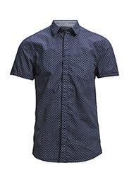 One SHPeter Geo shirt ss IDX - Blue Depths