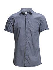 One SHAllan Geo shirt ss IDX - Blue Depths