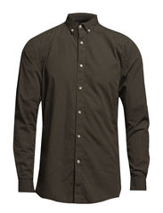 One Mood Washed shirt ls HX - Dusty Olive