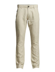 Three ShParis white linen pants H - White Pepper