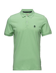 SHDARO SS EMBROIDERY POLO NOOS - GREENGAGE