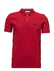 SHDARO SS EMBROIDERY POLO NOOS - TRUE RED