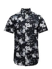 SHXONE-BLACK PALM SS SHIRT - BLACK