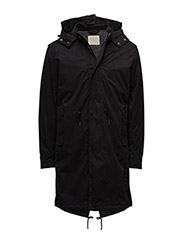 SHNFISHTAIL PARKA - BLACK