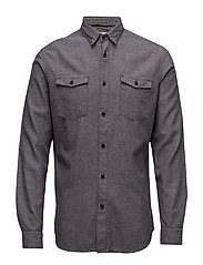 SHNTWOLES SHIRT LS - DARK GREY