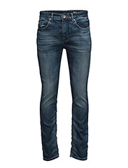 SHNTWOMARIO 9604 M.BLUE KNIT  JEAN NOOS - MEDIUM BLUE DENIM