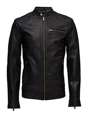SHNNEW TYLOR LEATHER JKT NOOS - BLACK