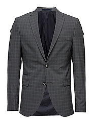 SHDONE-BUFFALOENZO BLAZER - MEDIUM GREY MELANGE
