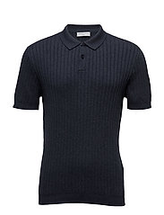 SHDCOY KNITTED POLO - OMBRE BLUE
