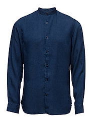 SHDTWOLOOSE SHIRT LS - DARK BLUE DENIM