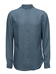 SHDTWOLOOSE SHIRT LS - LIGHT BLUE DENIM