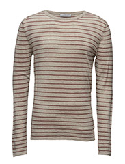 SHDEMMET STRIPE CREW NECK - DOVE
