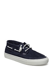 SHHAUGUST HIGHTOP BOAT SHOE - NAVY BLAZER