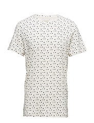 SHHFLOWER SS O-NECK TEE - BRIGHT WHITE