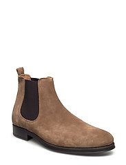 SHDOLIVER NEW SUEDE CHELSEA BOOT - COGNAC