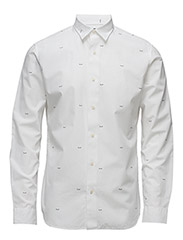ABONEPRINT SHIRT LS - BRIGHT WHITE