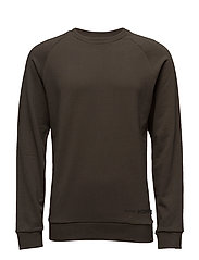 SHXFREE CREW NECK - BLACK OLIVE