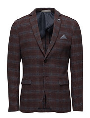 SHDONE-BROWN BLAZER - CHOCOLATE BROWN