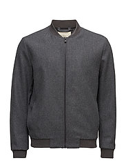 SHHBENNY BOMBER JKT - MEDIUM GREY MELANGE