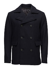 SHDMERCE WOOL PEACOAT - DARK NAVY