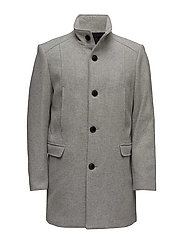 SHDMOSTO WOOL COAT - LIGHT GREY MELANGE