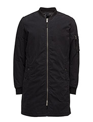 SHNBOMBER LONG COAT - BLACK