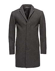 SHDBROOKEN COAT - MEDIUM GREY MELANGE