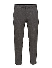 SHDTAPERED CROPPED BASE TROUSER - BLACK