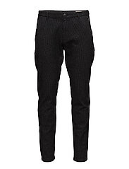 SHHARVAL BLACK STRUC SLIM ST PANTS STS - BLACK