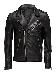 SHNLEAN BIKER JACKET - BLACK