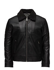 SHNTEDDY CLASSIC LEATHER JKT - BLACK