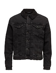 SHXTEDDY BLACK DENIM JACKET - BLACK