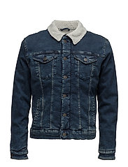 SHXTEDDY BLUE DENIM JACKET - MEDIUM BLUE DENIM