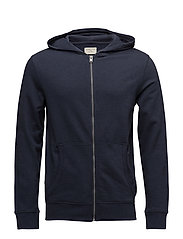 SLHSIMON ZIP HOOD SWEAT W NOOS - BLUE NIGHTS