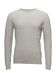 SHHCLAYTON CREW NECK NOOS - LIGHT GREY MELANGE