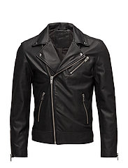 SHNSEB BIKER LEATHER JKT - BLACK
