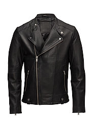 SHNSLADE RACER LEATHER JKT - BLACK