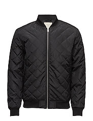 SHXPETER QUILTED BOMBER JACKET - BLACK