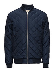 SHXPETER QUILTED BOMBER JACKET - NAVY BLAZER