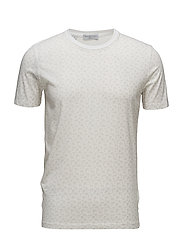 SHDPRINCE AOP SS O-NECK TEE - BRIGHT WHITE