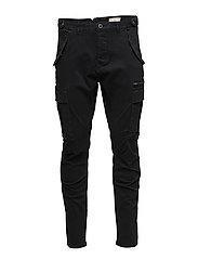 SHXNAPLES BLACK SLIM CARGO ST PANT - BLACK