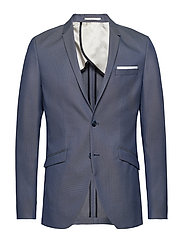 SHDONE-MAZE M. BLUE STRUCT. BLAZER NOOS - MEDIUM BLUE MELANGE