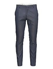 SHDONE-MAZE M. BLUE STRUCT. TROUSER NOOS - MEDIUM BLUE MELANGE