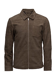 SHNDAVID SUEDE SHIRT JACKET - MOREL