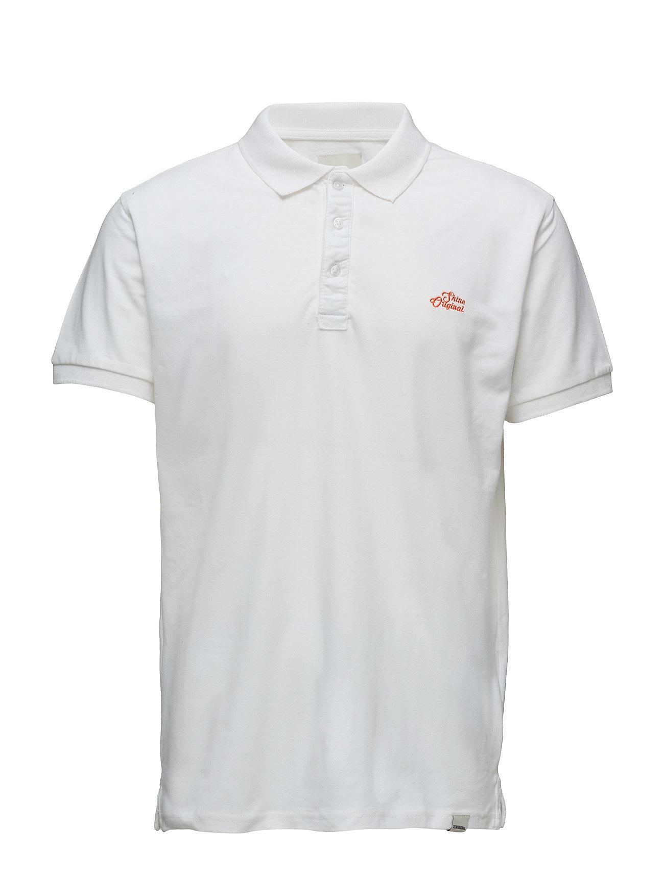 PigmentdyepolopiquÈS/S Shine Original Kortærmede polo t-shirts til Herrer i hvid