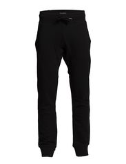 Solid sweat pants - BLACK