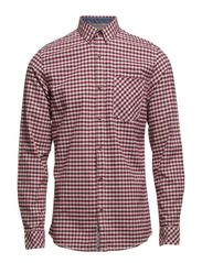 Check oxford shirt L/S - RED