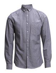 Jacquard oxford shirt L/S - BLACK