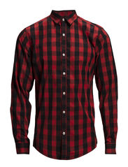 Checked TC shirt L/S - RED
